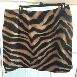 Ralph Lauren Singita animal pencil short skirt